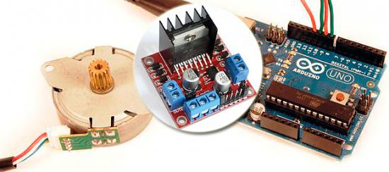 Шаговый двигатель и Arduino