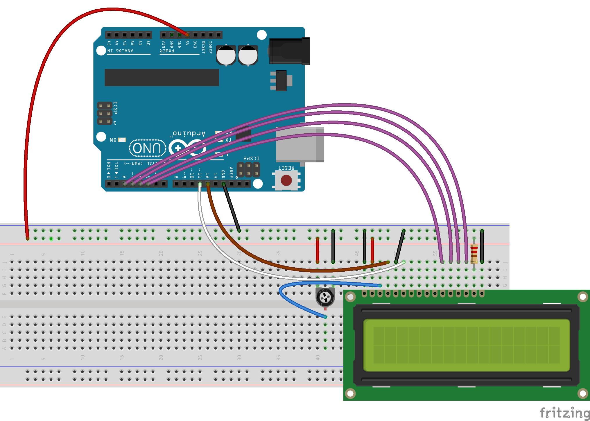 Подключение Arduino uno к lcd 1602