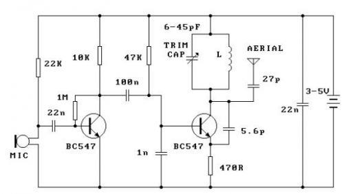 Схема FM передатчика