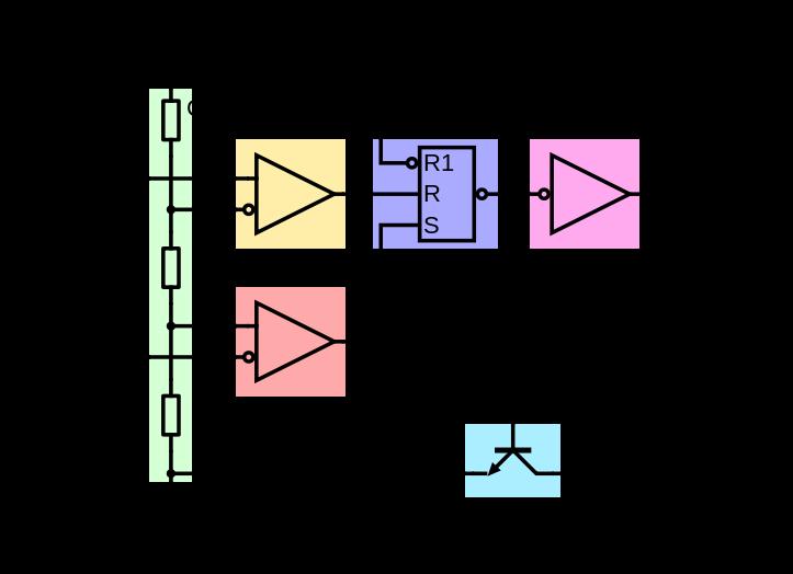 Логическая схема таймера NE555