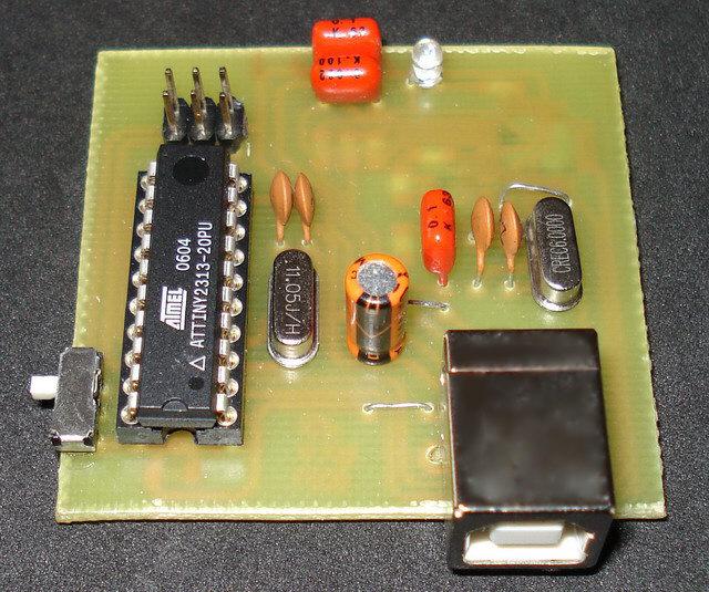USB AVR programmer.