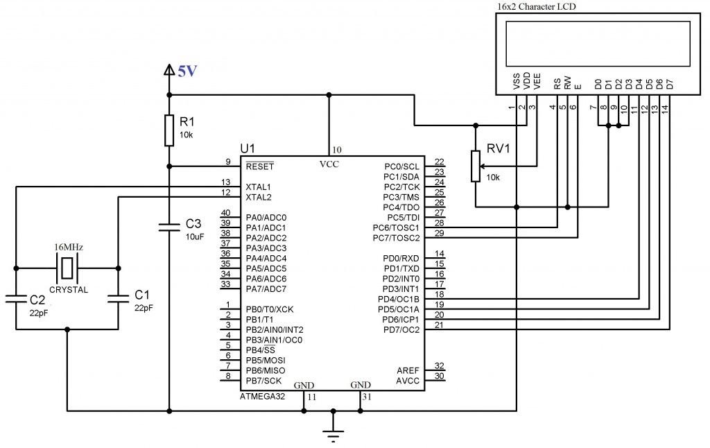 Схема для жк дисплеев