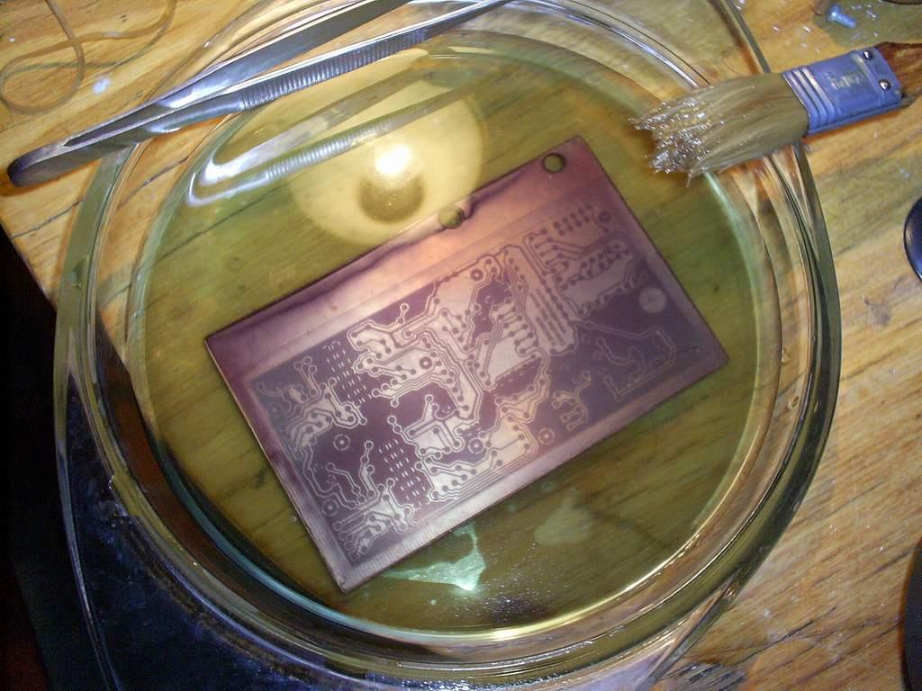 один самых нанесение фото методом травления промываем, отрезаем