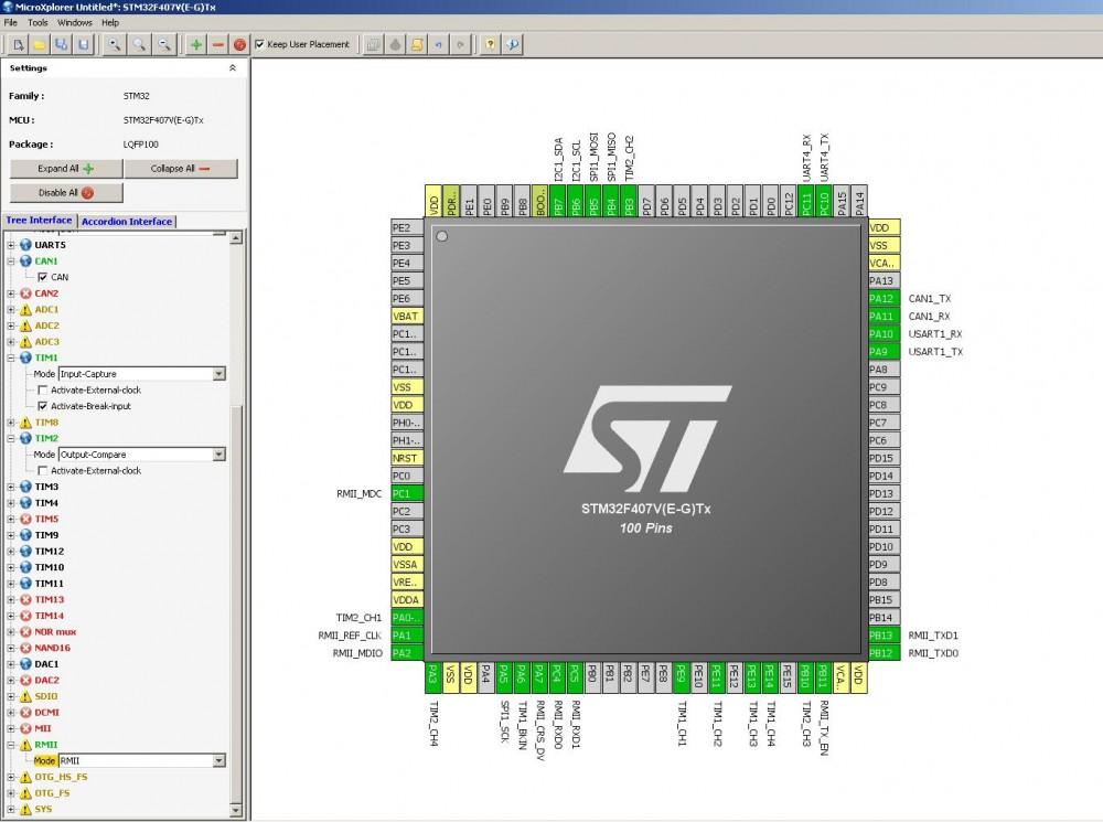 из микроконтроллеров STM32