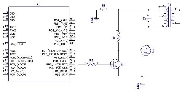 статья схема фотовспышки на микроконтроллере противоположной скале