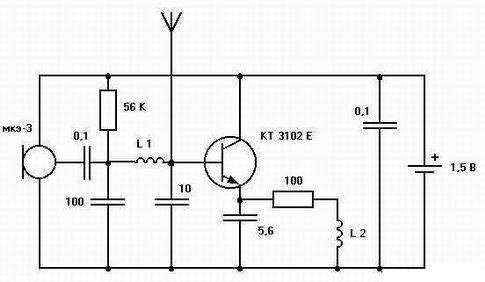 Схемы простейших радио устройств